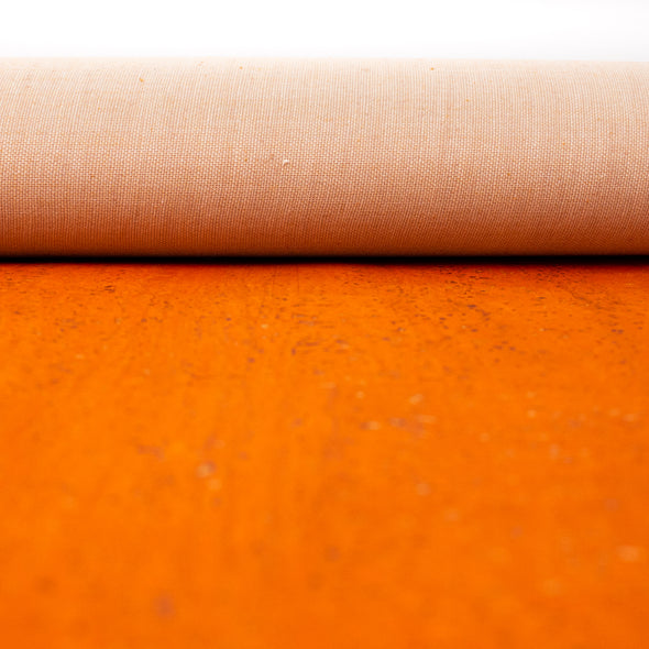 Orange Portuguese cork fabric COF-126