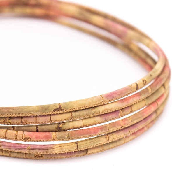 10 meters burn style 3mm round cork cord COR-482