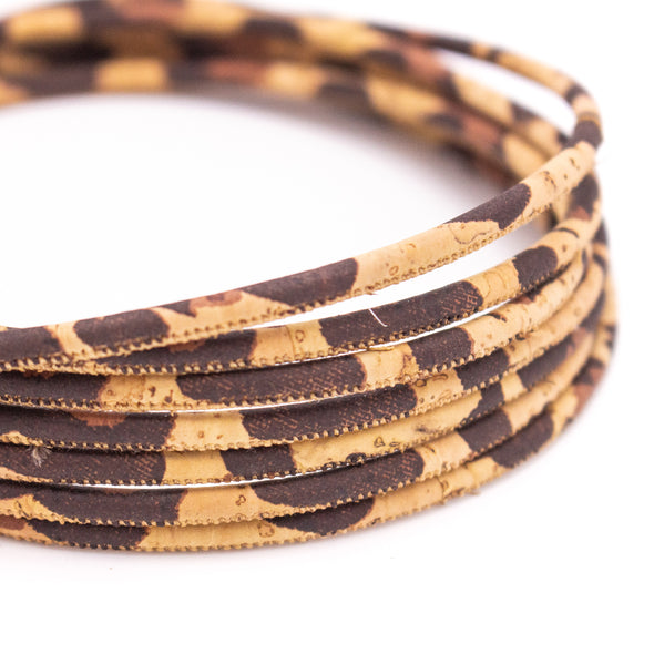 10meters Leopardo 3 mm round cork cord COR-480
