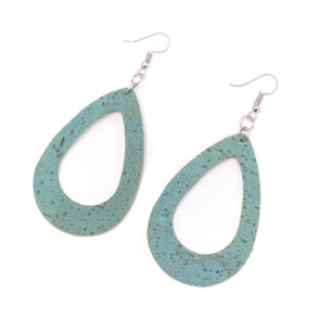 light blue cork fabric  Shapes for Earrings, Original handmade ladies eamrrings-ER-073-G