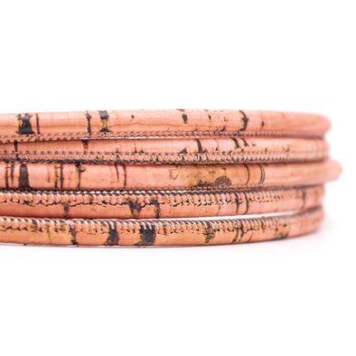 10meters Pink Pastel 5mm round cork cord COR-475