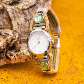 Handmade cork watch for women WA-155(NEW)