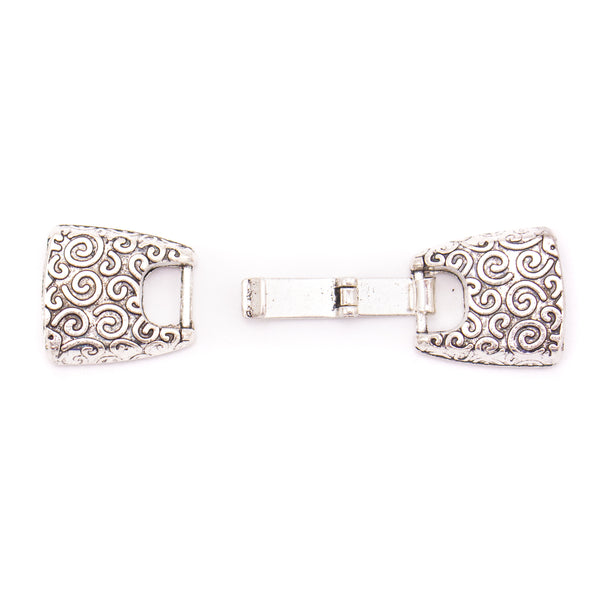 10 Units For 10mm leather clasp, for 10mm flat antique silver snap clasp jewelry finding D-6-239