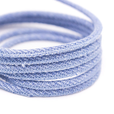 Denim 3mm round cord for jewelry making COR-506(Not Cork)(10meters)