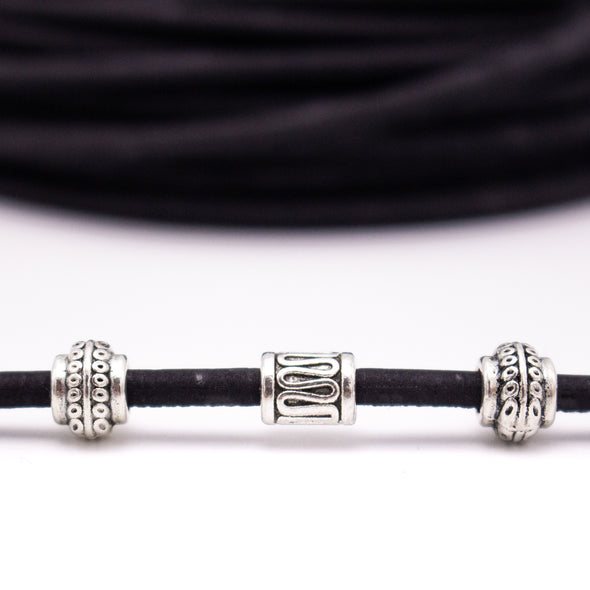 10 meters Black 3mm round cork cord COR-495