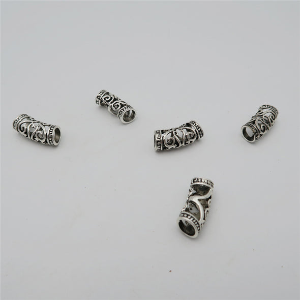 10 Pcs for 5/6mm round antique silver tube, jewelry supplies jewelry finding D-5-5-57