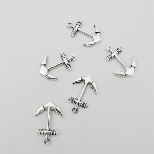20 units antique silver anchor, Charms Pendant, jewelry finding suppliers D-3-82