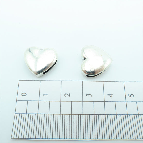 10 Pcs For 10mm flat leather,Antique Silver Love bead jewelry supplies jewelry finding D-1-10-20