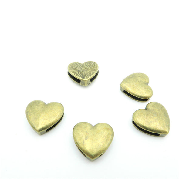 10 Pcs For 10mm flat leather,Antique Bronze Love bead jewelry supplies jewelry finding D-1-10-19