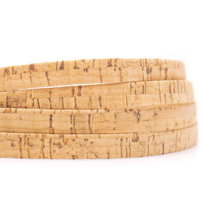 10 meters Rustic Natural 10mm flat cork cord COR-514