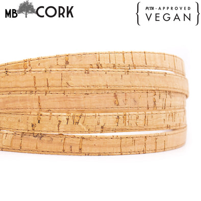 10meters Natural cork 10mm Flat cork cord COR-513