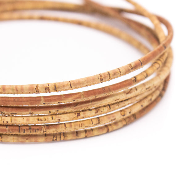 10 Meters Light brown color 3mm cork cord COR-538