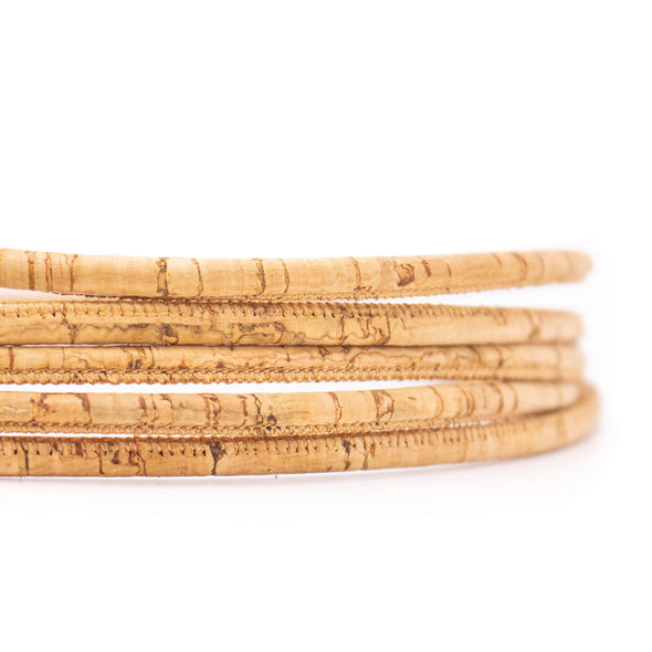 10 meters natural 4mm round cork cord COR-530