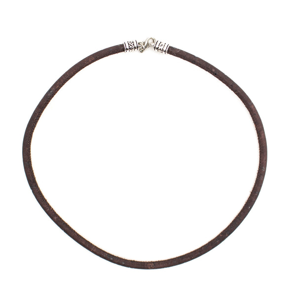 10units Natural Cork with brown cork necklace 5MM cord 45cm length  N-000-AB-10