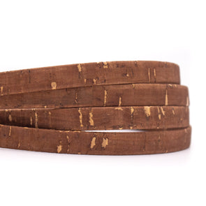10 meters Brown 10mm flat cork cord COR-523