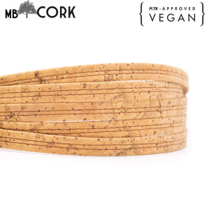 10 meters Natural cork 9mm flat cord COR-529