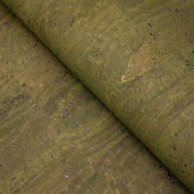 Dark GREEN  Portuguese Cork Fabric COF-124
