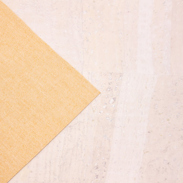 White Portuguese cork fabric COF-127