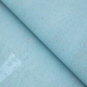 Sky Blue Portuguese cork fabric COF-132