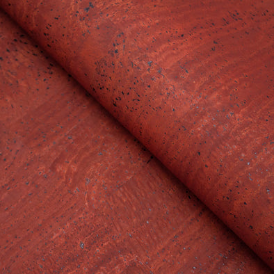Dark red Portuguese Cork Fabric COF-155