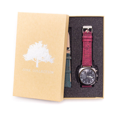 20mm multiple colour cork strap with  watch for men  and women watch WA-171-BOX-A