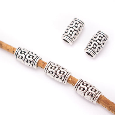 20 Pcs for 3mm round leather Antique Silver small tube jewelry supplies jewelry finding D-5-3-140