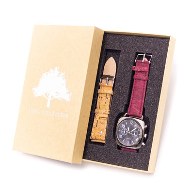 20mm multiple colour cork strap with  watch for men  and women watch WA-174-BOX-F