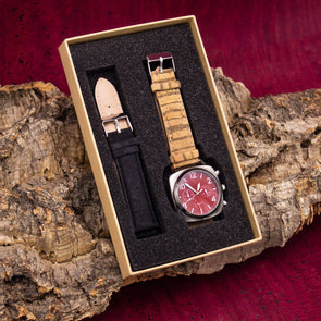 20mm multiple colour cork strap with  watch for men  and women watch WA-174-BOX-E