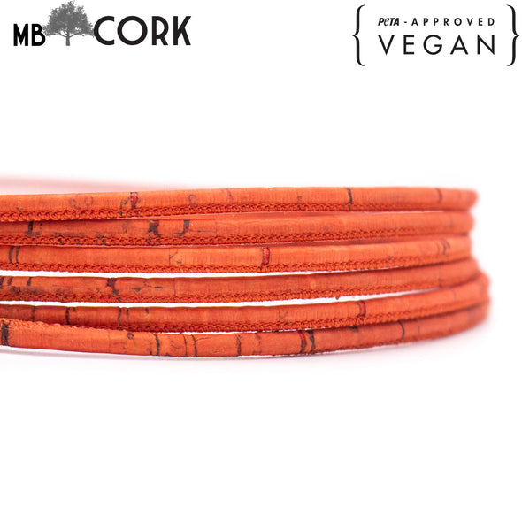 10 meters Red 3mm Cork Cord COR-561