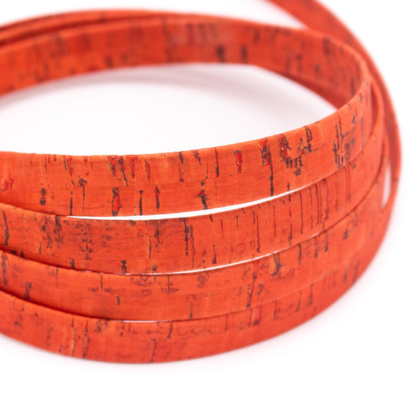 10mm flat Orange cork cord COR-330