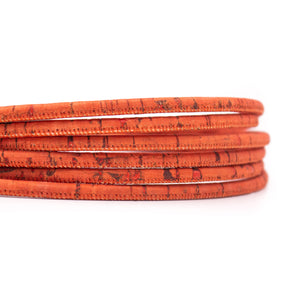 10 meters Red style 5mm round cork cord COR-562