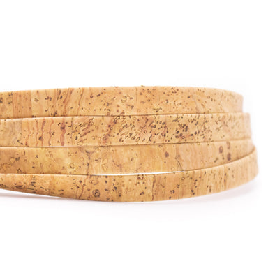 10 meters Natural 10mm flat cork cord COR-525