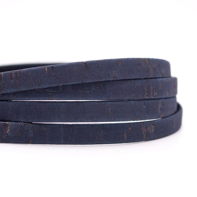 10 meters Dark Blue 10mm flat cork cord COR-548