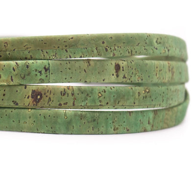 10 meters Green 10mm flat cork cord COR-353