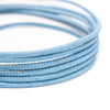 10 meters  Blue 3mm round cork cord COR-152