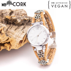 Handmade cork watch for women WA-140