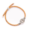 Natural 3mm round Cork with zamak tube beads handmade bracelet for women jewelry bracelet jewelry BR-451-MIX-12