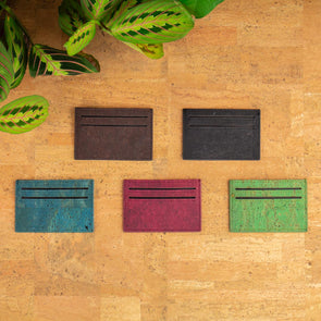 Cork Minimalist Wallet slim card wallet BAG-254-ABCDE