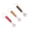 colorful cork with tree pendant Simple style colorful cork handmade  keychain I-061-MIX-10