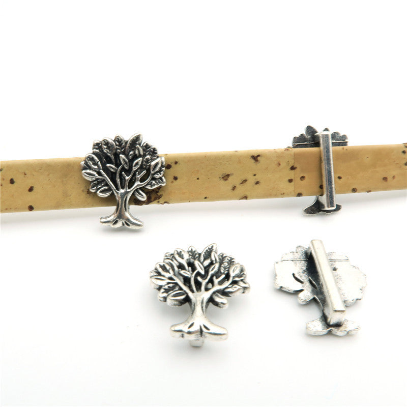 10 Pcs for 10mm flat leather,Antique Silver Tree of Life jewelry supplies jewelry finding D-1-10-50