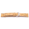 Natural cork with gold watch strap rustic cork with PU leather handmade vegan high quality E-005