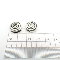 10 Pcs for 10mm flat leather,Antique Silver Round Spiral jewelry supplies jewelry finding D-1-10-52