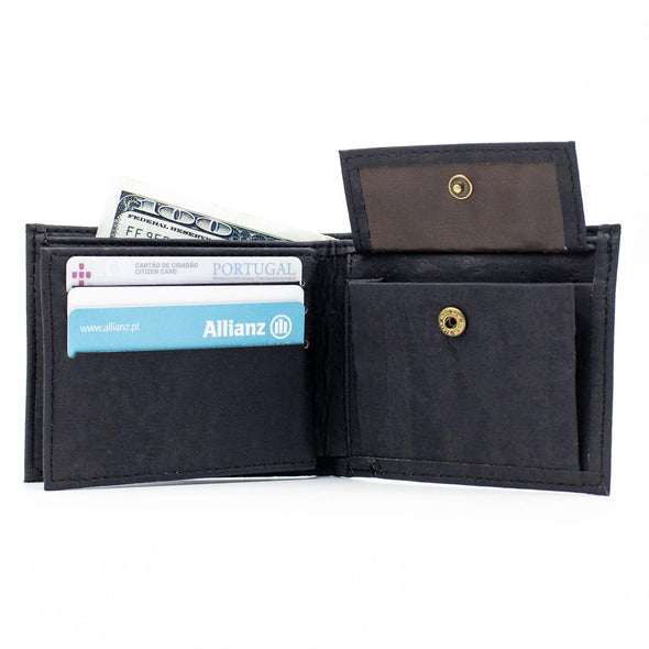 Black cork men wallet BAG-351-B