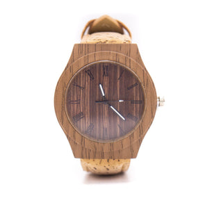 18mm Natural colour cork strap with  watch for women watch WA-085