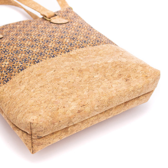 Natural cork women handbag with parrten Tote bag BAG-629