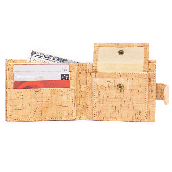 Natural rustic cork wallet for men BAG-610