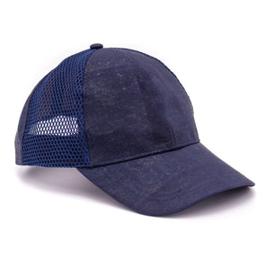 Blue mesh and cork summer men's baseball cap L-522
