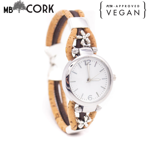 Handmade cork watch for women WA-143