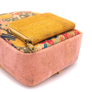 Natural cork Slim Wallet card holder handmade wallet Bag-105