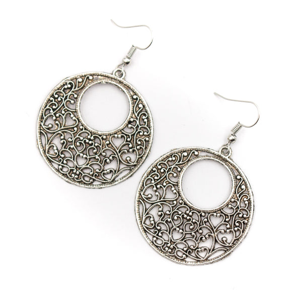 Portuguese Round pattern hollow pendant earrings women earrings handmade lady original dangle earrings ER-100